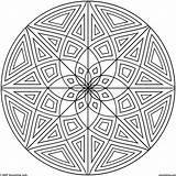Coloring Pages Geometric Designs Circle Cool Mandala Printable 3d Circles Template Shapes Adults Mandalas Mandela Print Patterns Calendar Site Adult sketch template