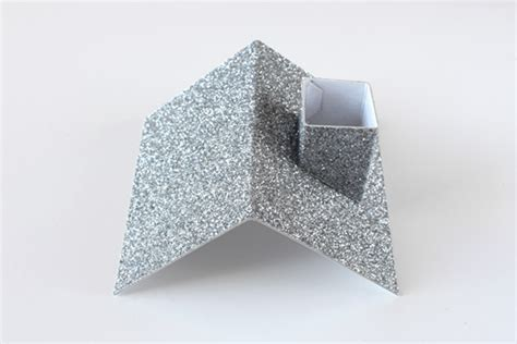 christmas diy week  glitter paper houses  cup  thuy