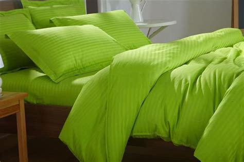 Lime Green Self Stripe Fitted Sheet ? Snuggle Bug