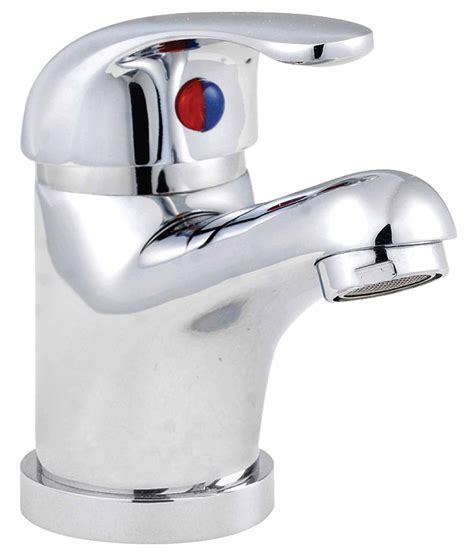 Lauren D Type Mono Basin Mixer Tap With Metal Sprung Waste