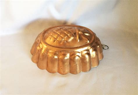 vintage copper pineapple mold vintage copper cookware kitchen decor molds   sold gallery