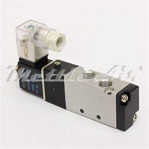 5 Ports 4 Way 2 Position Valve 1  8 U0026quot  Npt Din Connector