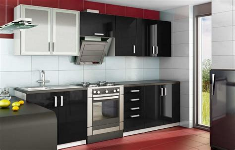 meuble cuisine noir meuble de cuisine moderne obasinc com