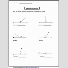 Supplementary Angles  Classroom Madness!  Pinterest  Math Worksheets And Worksheets