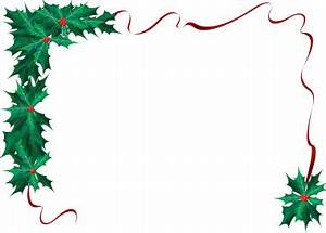 December Borders Clipart