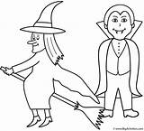 Vampire Coloring Halloween Witch Pages Witches Bigactivities Template Happy Library Clipart Popular sketch template