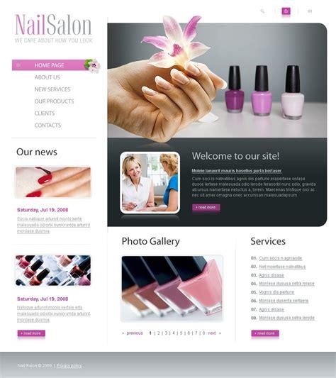 nail templates nail salon website template 23324