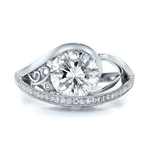 custom diamond engagement ring 100551 seattle bellevue joseph jewelry