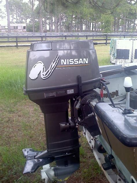 Nissan Fishing Boat by Sold 2004 Nissan 40hp Outboard The Hull