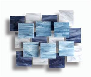 Arctic accent piece by karo martirosyan art glass wall