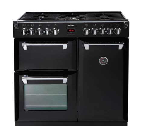 buy stoves richmond 900dft dual fuel range cooker black free delivery currys
