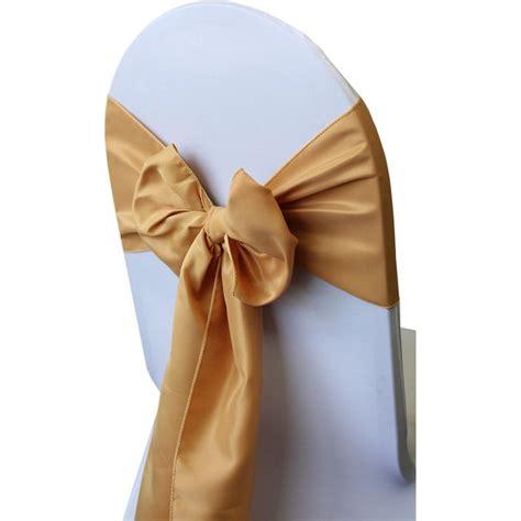 accessories gold lamour satin chair sash 2346471 weddbook