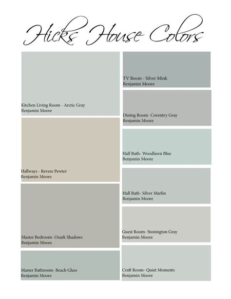 hicks house color scheme revere pewter for the home