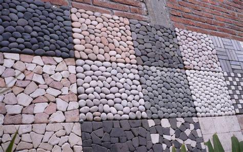 pola pemasangan batu alam  penerapan  desain studi bahan bangunan universitas diponegoro