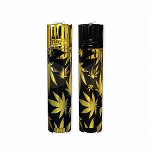 clipper metal leaves gold lighters