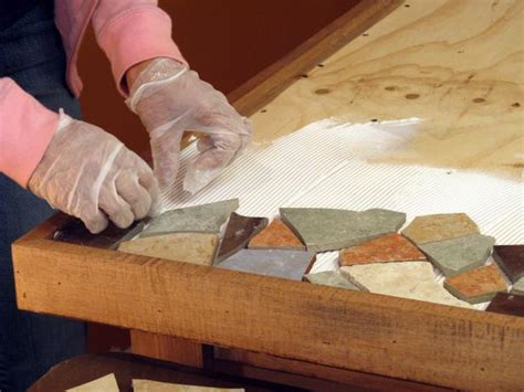How to Make a Mosaic Tile Tabletop   how tos   DIY