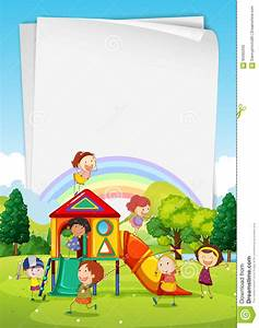 Playground clipart border - Pencil and in color playground ...