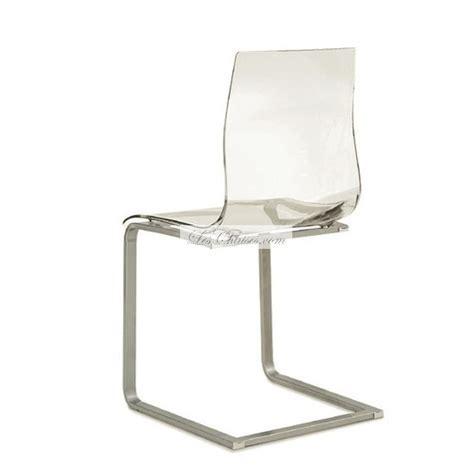 pied cuisine reglable chaise transparente design gel chaises design par domitalia