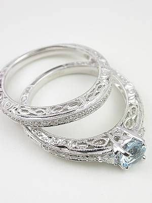 vintage style wedding ring with infinity motif rg