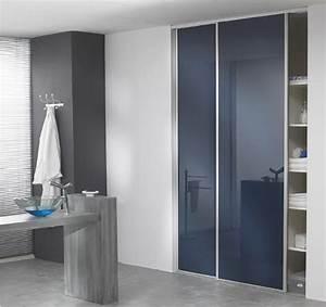 armoire salle de bain porte coulissante With porte coulissante miroir salle de bain