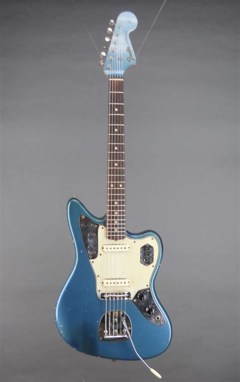 Blue Fender Jaguar by Guitars A Go Go 1965 Fender Jaguar Lake Placid Blue