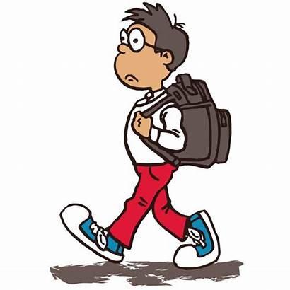 Walking Boy Clipart Vector Clip Graphic Kid