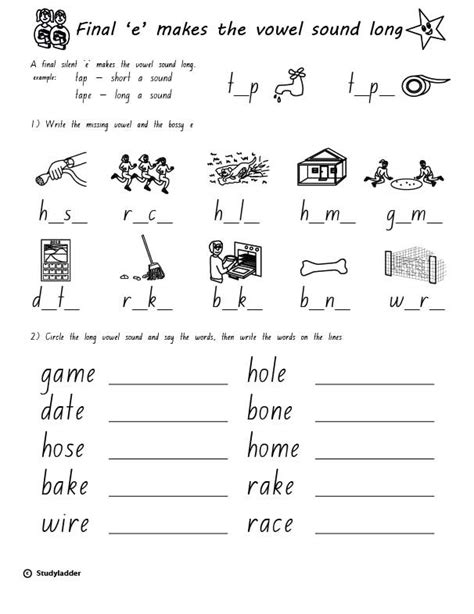 bossy e worksheets year 1 rule bossy e a sound skills