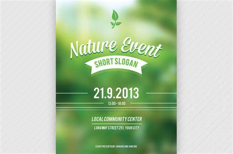 modèle de flyer word nature event flyer psd flyer templates on creative market