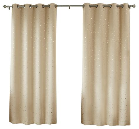 grommet goldstar print thermal insulated blackout curtain