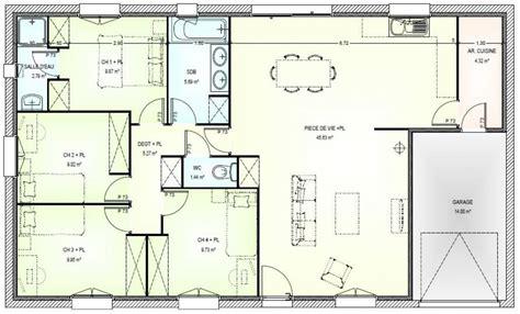 plan maison 5 chambres plain pied plan interieur de maison plain pied 20170925201446
