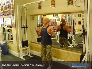 Two Arm Low Pulley Cable Curl  Video Exercise Guide  U0026 Tips