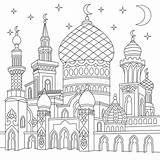 Moschea Stilizzato Islamica Zentangle Ha Colorare sketch template