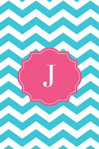 Chevron teal J monogram | Monograms | Pinterest