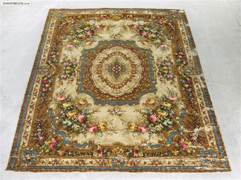 antique floral cabbage rose victorian oriental wool