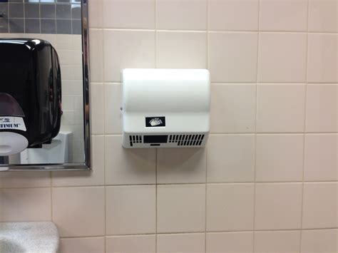 hand dryers  bathrooms perform poorly  reflection