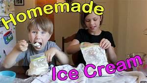 How to Make Homemade Ice Cream using Plastic Bags - YouTube