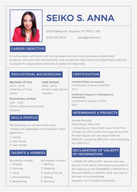 It includes your career objective and presents your skills and professional experience (if you have any). College Student Resume - 8+ Free Word, PDF Documents Download | Free & Premium Templates
