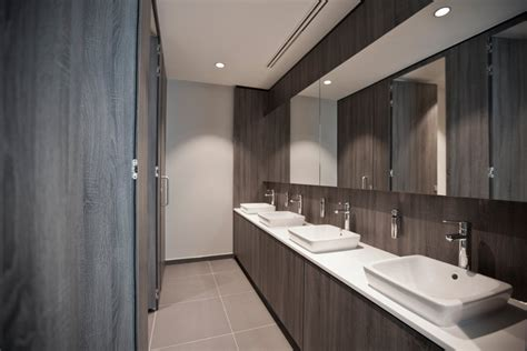 bathroom lighting ideas for vanity canary wharf office toilet commercial profile interiors