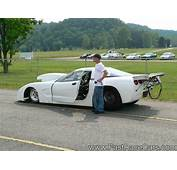 Drag Race Cars > Corvettes Picture Of White CORVETTE