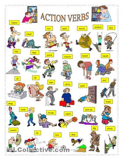Action Verbs Worksheet  Free Esl Printable Worksheets Made By Teachers  Grammar Pinterest