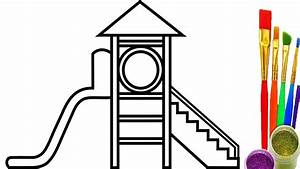 Playground for Kids Coloring Pages How to Draw Videos for ...