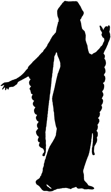 century fashion silhouette clipart