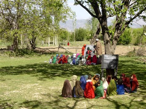 picture afghanistan girls outdoor classroom field