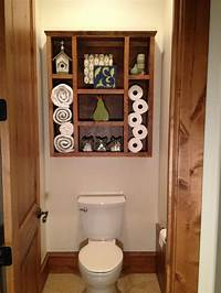 over toilet shelf Square Wood Open Shelf Over Toilet For Small Space ...