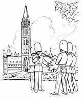 Coloring Pages Canada British Parliament Guard Sheets Soldiers Redcoat Ottawa Changing Building Activity Honkingdonkey Holiday Leave Coloringhome sketch template
