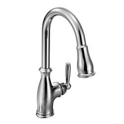 moen brantford deck mount kitchen faucet 7185c chrome