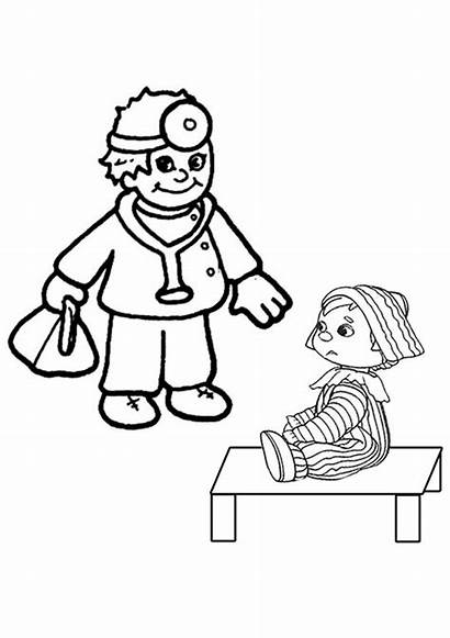 Doctor Coloring Tools Pages Colouring Clipart Child