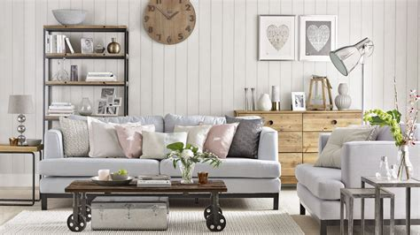 Soft Neutral Living Room With Reclaimed Wood Furniture