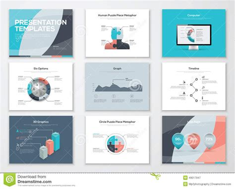 Business Presentation Templates And Infographic Vector