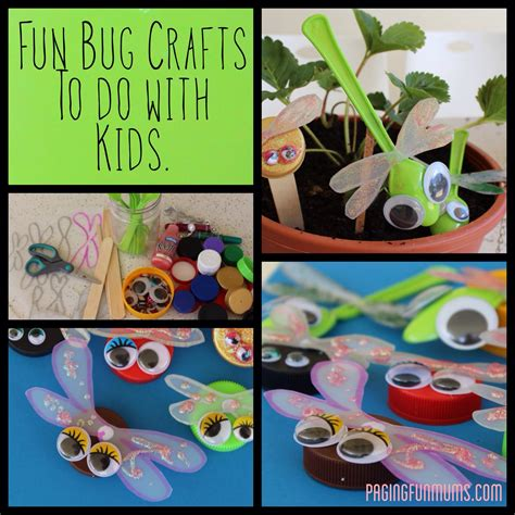 amp easy bottle cap bug craft louise paging mums 346 | title